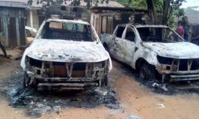 Hoodlums set police station on fire, free detained persons