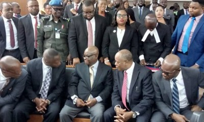 BREAKING: Finally, Suspend CJN Onnoghen shows up at CCT