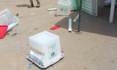 LAGOS: Pandemonium as APC thugs chase away voters, burn ballot boxes in Okota