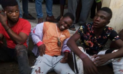 AKWA IBOM: Youths arrest, beat up thugs allegedly sent by Buhari's minister (Photos)