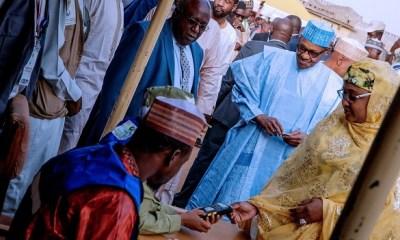 Buhari, Aisha cast votes in Daura