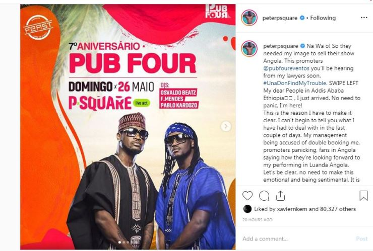 Mr P of ex-Psquare threatens to sue promoter for using his photo to sell brother's show