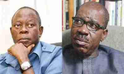 Oshiomhole reveals why Obaseki is creating crisis in Edo APC