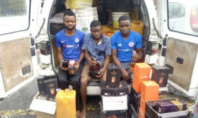 Police nab 3 for producing adulterated drinks in Lagos