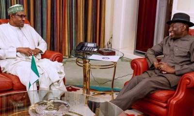 Jonathan visits Buhari in Aso Rock