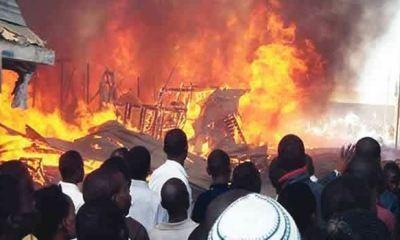 Fire razes multi-storey building on Lagos Island