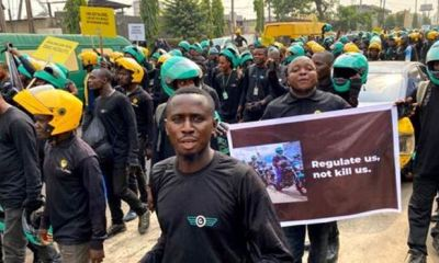 Bike riders hit the streets to protest ban in Lagos