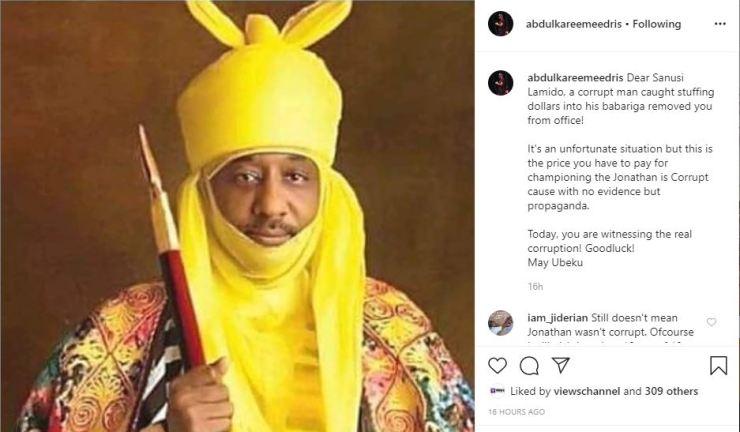 Eedris Abdulkareem says dethroned Emir's problem started with Jonathan