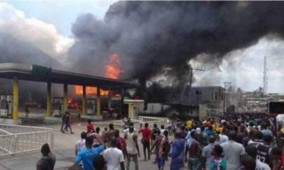 NNPC filling station fire destroys 30 vehicles (Video)