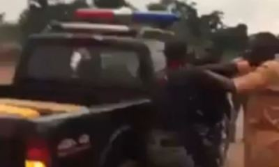 Policemen caught on camera fighting in Edo arrested