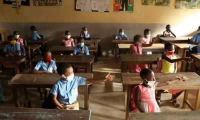 COVID-19: Kids flock back to classrooms with facemasks as Ivory Coast re-opens schools