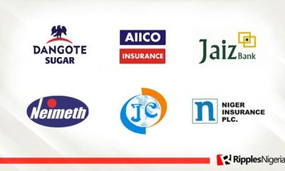 Aiico Insurance, Jaiz Bank, Neimeth, Dangote Sugar top Ripples Nigeria stock watchlist