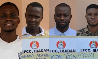 Four sent to jail over internet fraud in Ogun