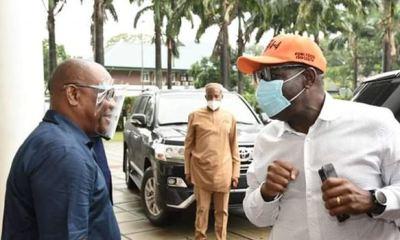Embattled Gov Obaseki visits Gov Wike in Port Harcourt