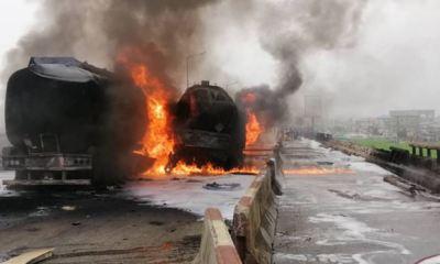 Anxiety, heavy traffic as three tankers up in flames at Kara bridge