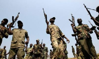Heavily armed rebels in the Democratic Republic of Congo
