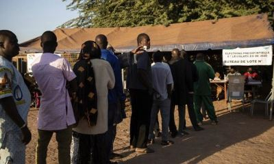 Burkina Faso closes election early over insecurity