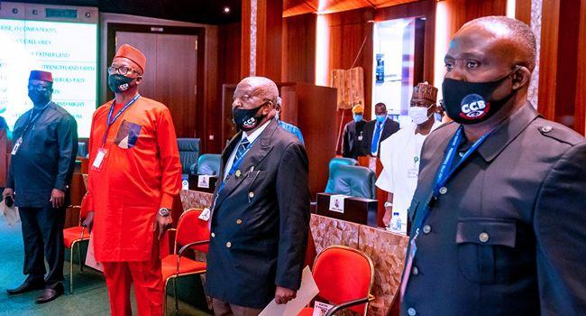 Buhari presides over first FEC meeting in 2021, swears in CCB members