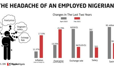 RipplesMetrics: How weak Naira eroded salary of Nigerians by 24.5% in two years