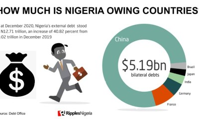 Explainer: From China to Brazil, all you need to know about Nigeria's debts to countries