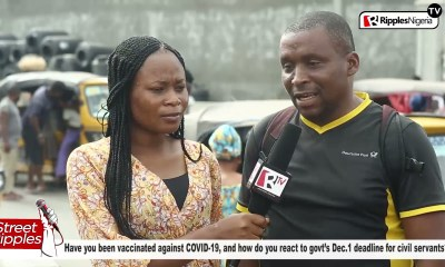 STREET RIPPLES: Have you been vaccinated against COVID-19, how do you react to govt's Dec.1 deadline for civil servants