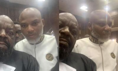 Images of IPOB leader, Kanu, in court