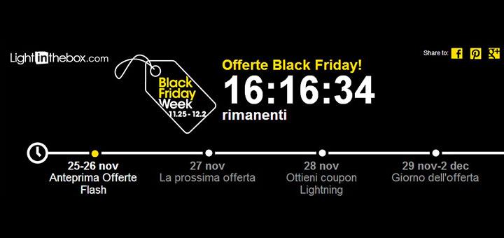Black Friday su Lightinthebox