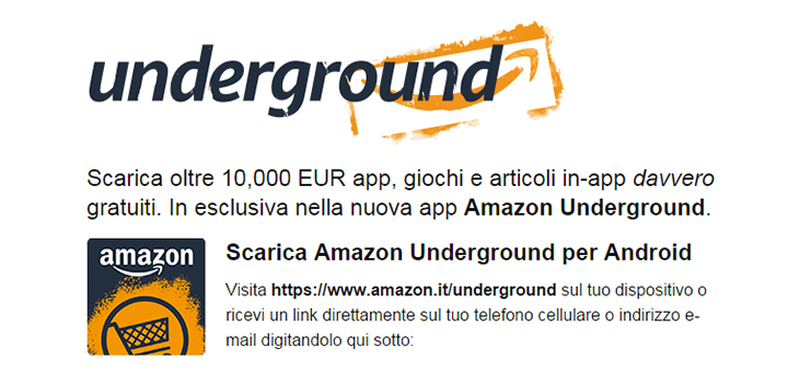 #backinthedays 10.000 Euro di app gratuite con Amazon Underground