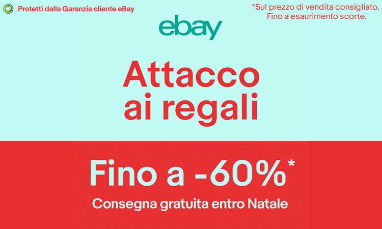 """eBay """"Attacco ai regali"""": PS4 Slim 239€ – iPhone 7 da 649€ – Huawei P9 Lite 209€ – Zenpad 8″ LTE 139€ – TV 40″ 189€"""
