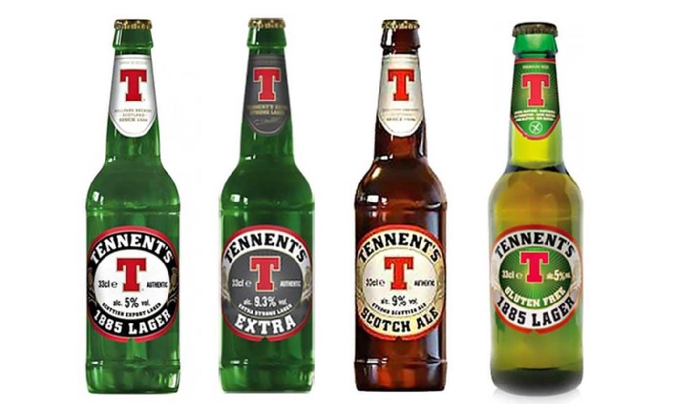 24 birre Tennent's da 33 cl disponibili in 4 varianti da 16,99 € con spedizione gratuita + 5% di sconto