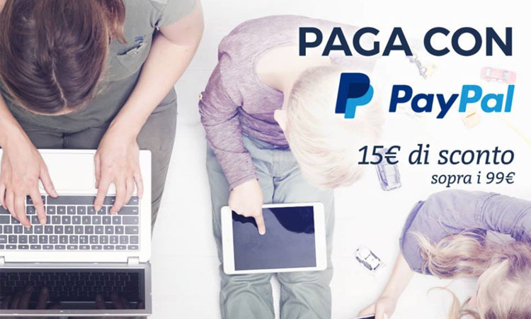 Unieuro: 15 Euro di sconto pagando con Paypal