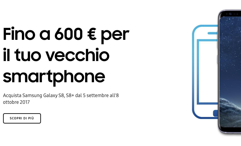 Samsung ti rimborsa fino a 600 Euro per il tuo vecchio smartphone