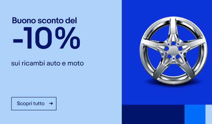Ebay: Buono sconto del 10% su ricambi e accessori per auto