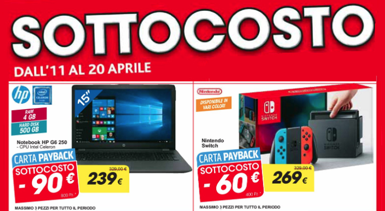 Sottocosto Carrefour: Nintendo Switch a 269€