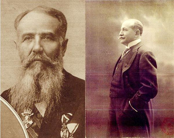 Premierul iugoslav Nikola Pašić şi Tache Ionescu, ministrul de externe al României