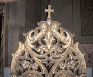 Altarul bisericii din Nicolinț - detaliu