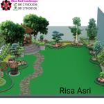 Tukang Taman Surabaya Gresik Sidoarjo | Jasa Desain & Pembuatan Taman desain lanskap landscape sketsa design gambar