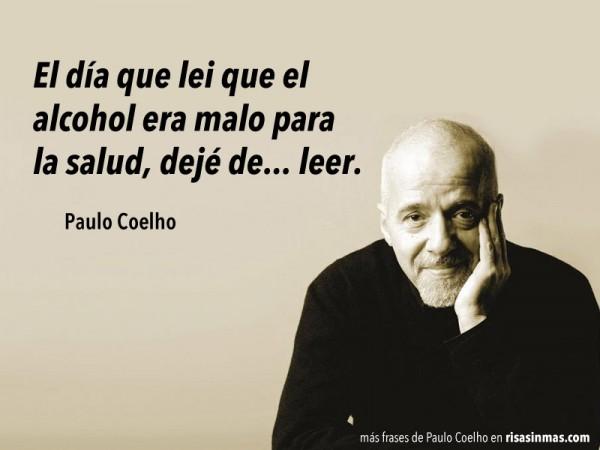 Paulo Coelho el alcohol es malo para la salud