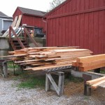 Finished tamarack lumber