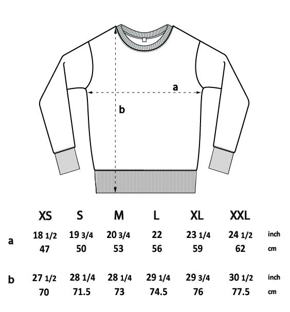 RC Crewneck Size Guide