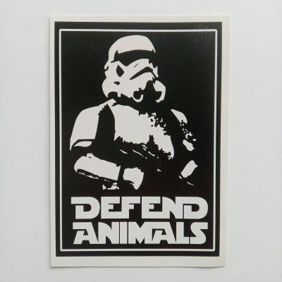 defend animals sticker