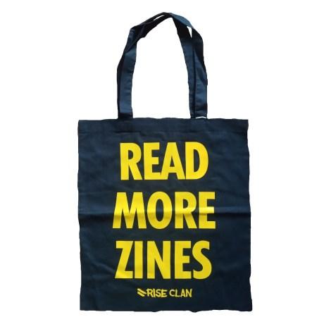 read more zines tote bag