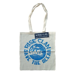 save the ocean tote bag