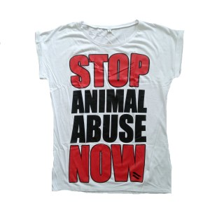 stop animal abuse tshirt