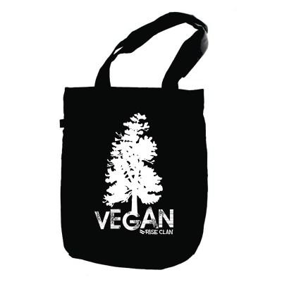 tote vegan tree black