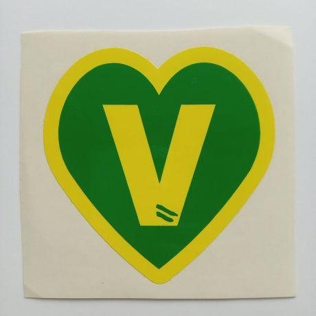 v heart custom cut sticker