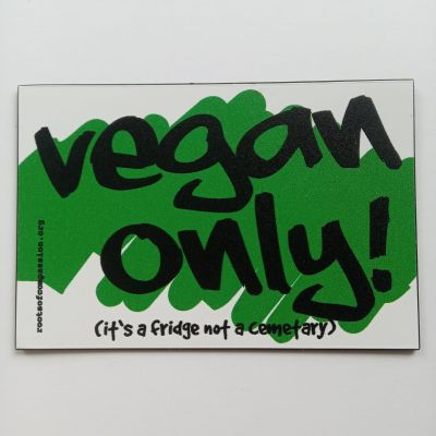 vegan only magnet