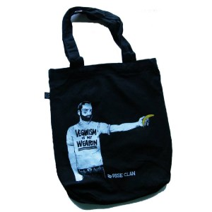 veganism is my weapon tote bag