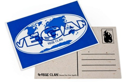 postcard vegan world