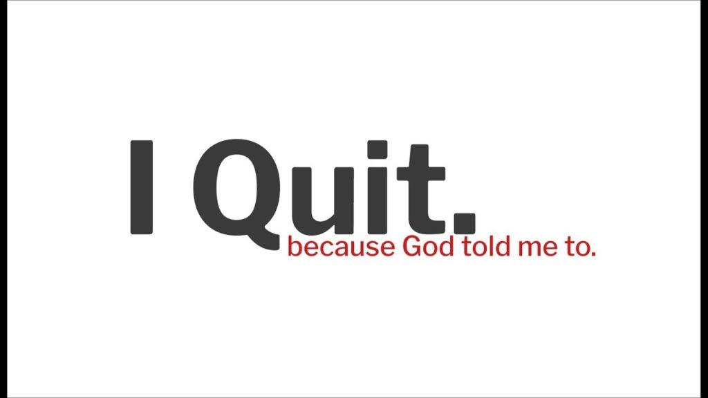 ╫ I QUIT